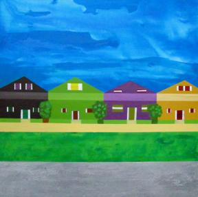 2016 Middle Class Neighbourhood Acrylic on canvas Yaniv Janson