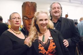 Exhibition curators Leafa Wilson Maree Mills and Nigel Borell2