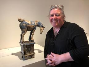 Fiona Tunnicliffe with her winning work.
