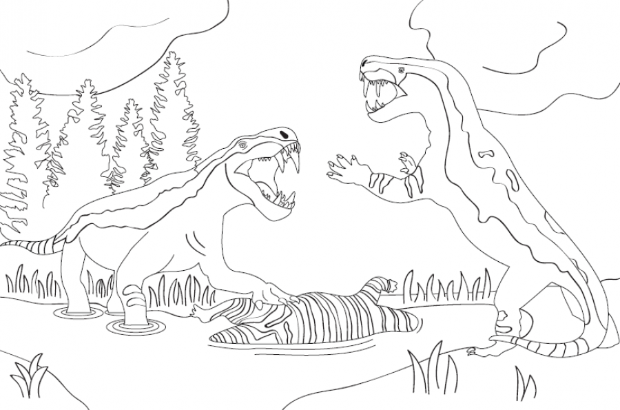 Permian Monster Colouring Competition Waikato Museum
