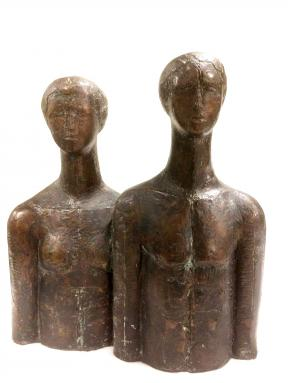 Untitled Two Figures by Lyndon Smith